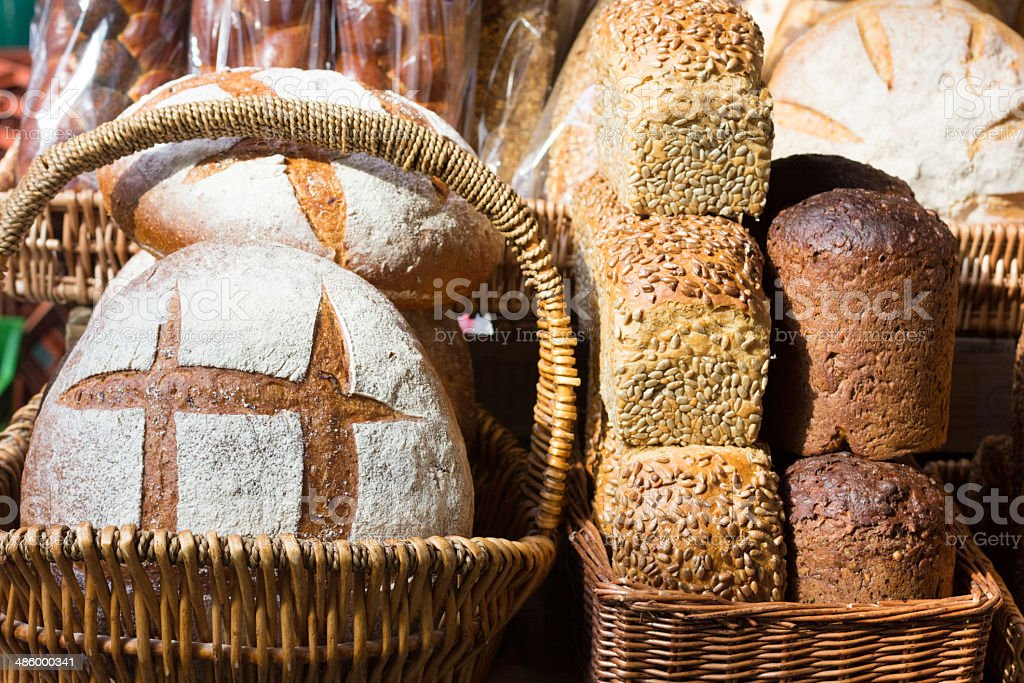 Bread in Borough Market, London royalty-free stock photo
