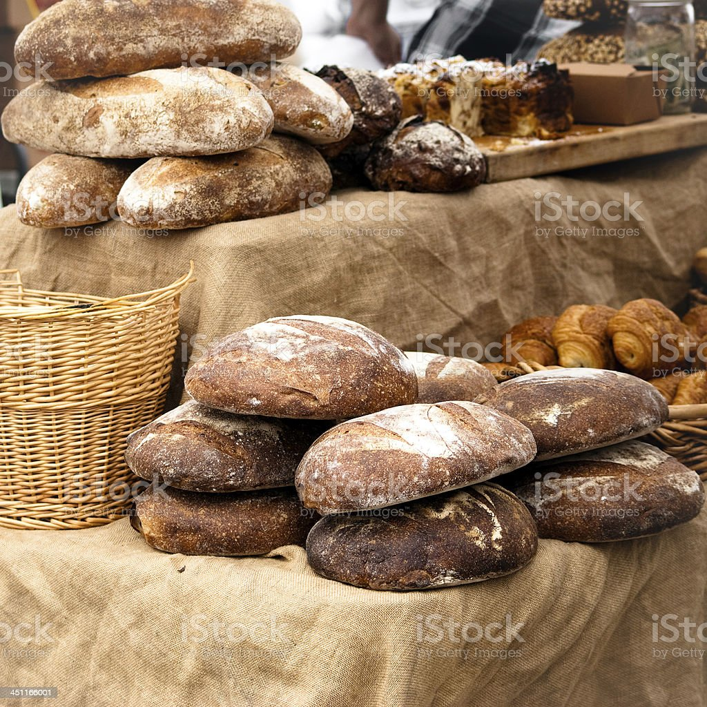 Bread in food market royalty-free stock photo