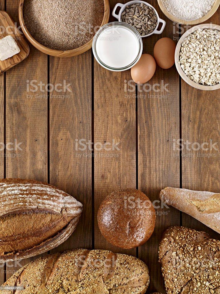 Bread Ingredients stock photo
