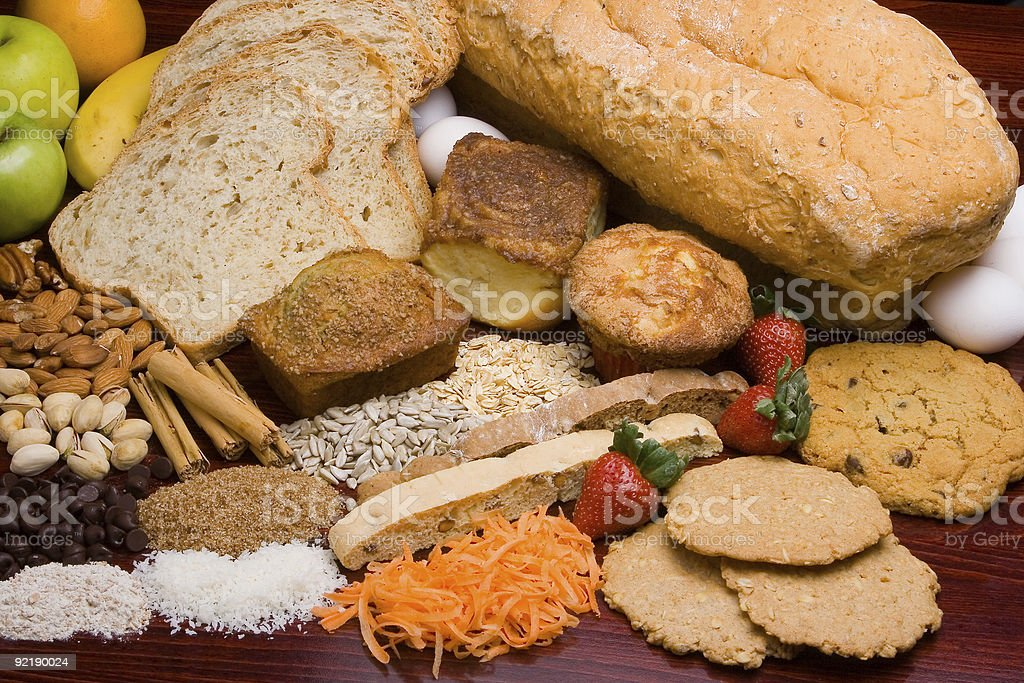 Bread ingredients royalty-free stock photo