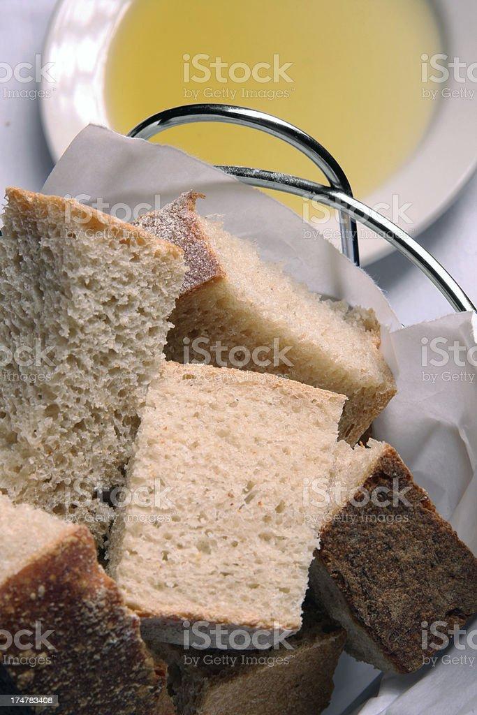 Bread Italian style appetizer stock photo