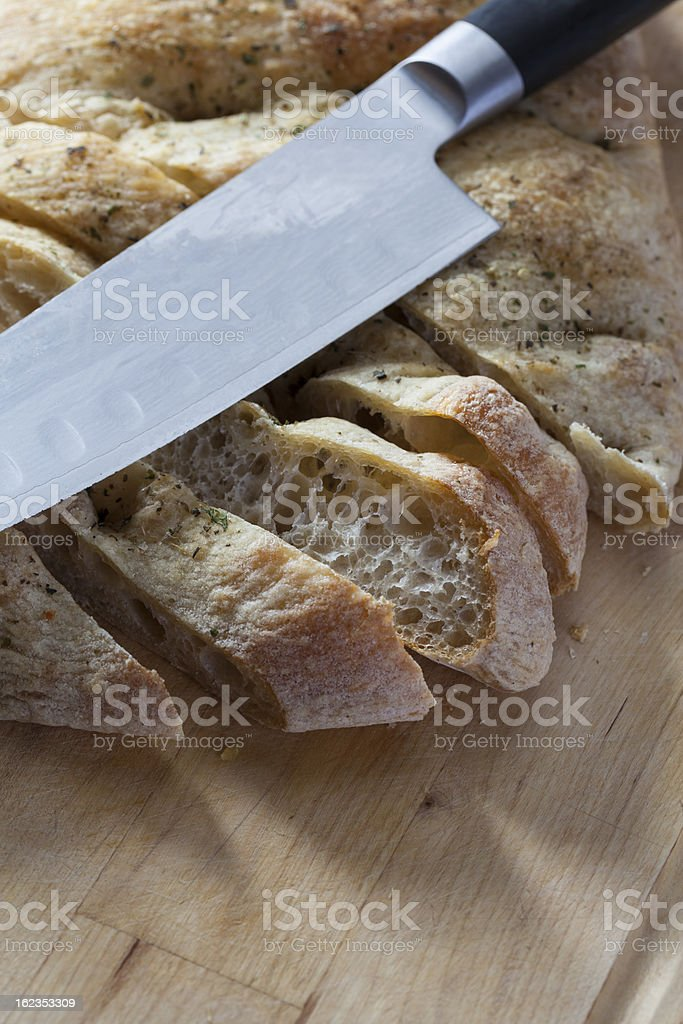 Bread & Knife royalty-free stock photo
