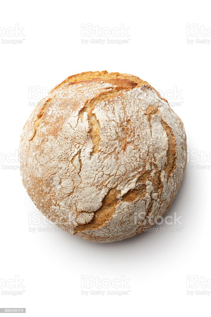 Bread: Loaf of Bread Isolated on White Background stock photo