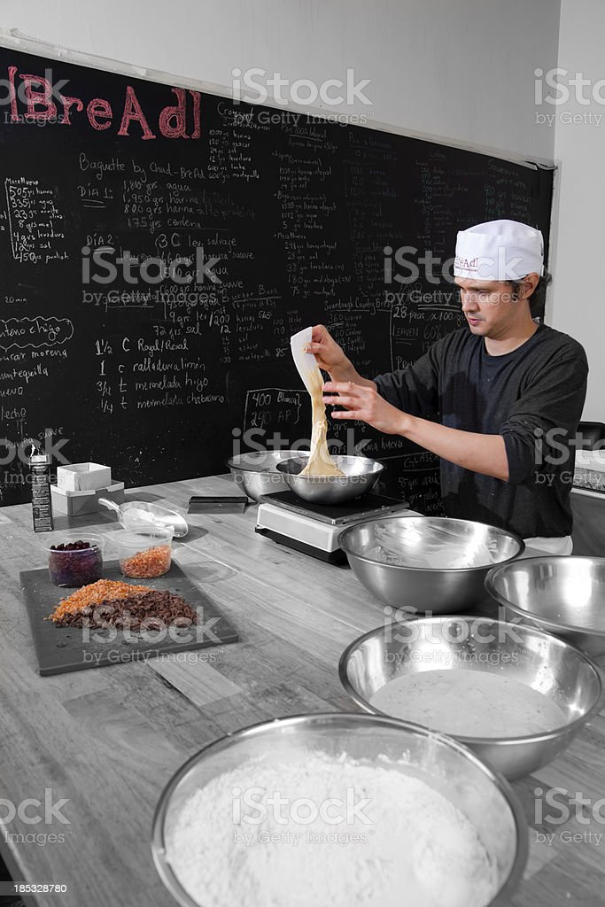 Bread Maker at Work royalty-free stock photo