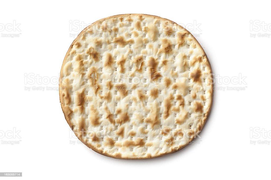 Bread: Matzo Isolated on White Background stock photo