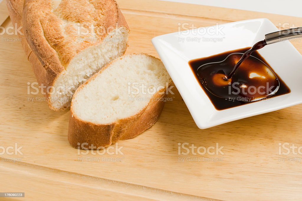 Bread, Oil and Vinegar royalty-free stock photo