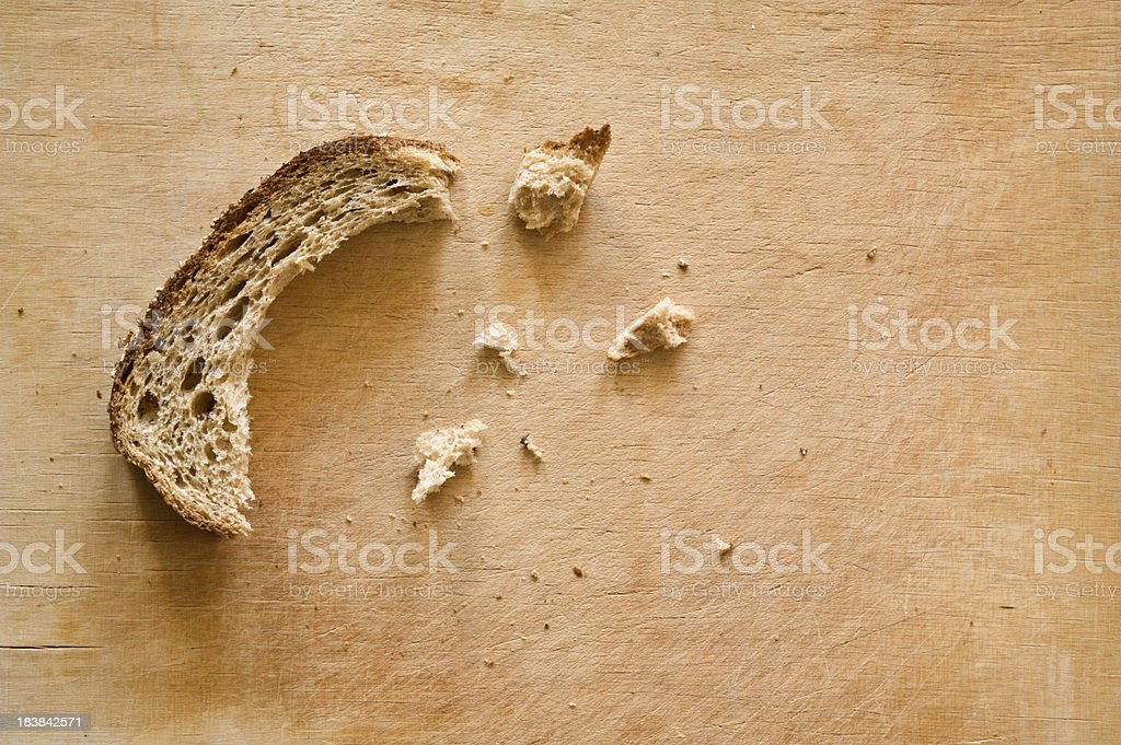 Bread on cutting board royalty-free stock photo