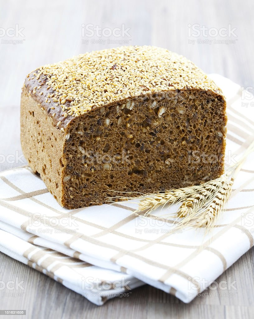 bread on distowel royalty-free stock photo