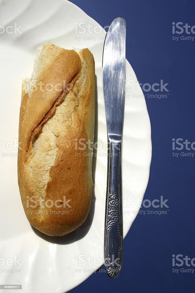 Bread on Plate stock photo