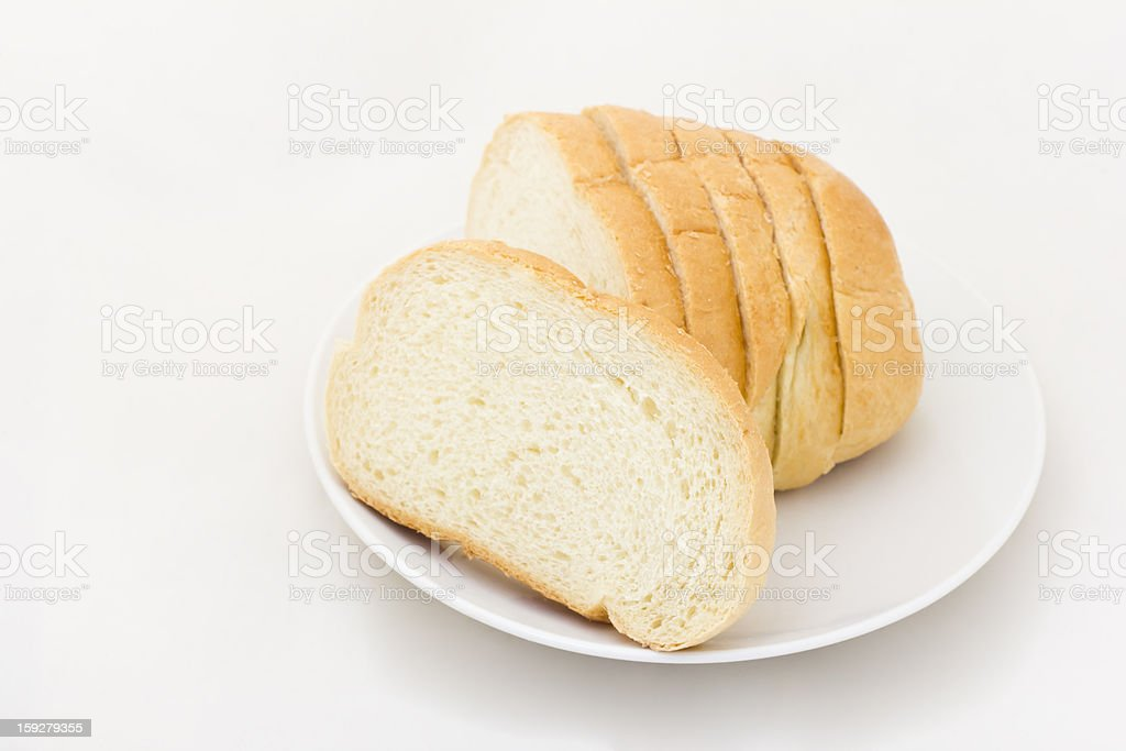 bread on the plate stock photo