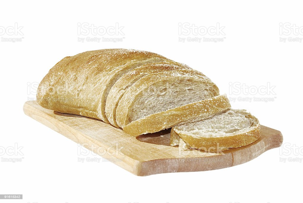 Bread on the trencher royalty-free stock photo