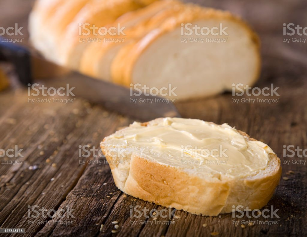Bread on Wood stock photo