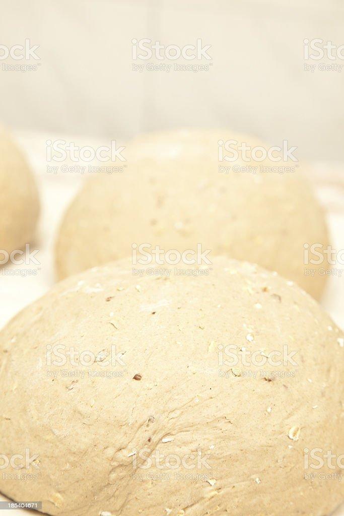 Bread or bun dough stock photo