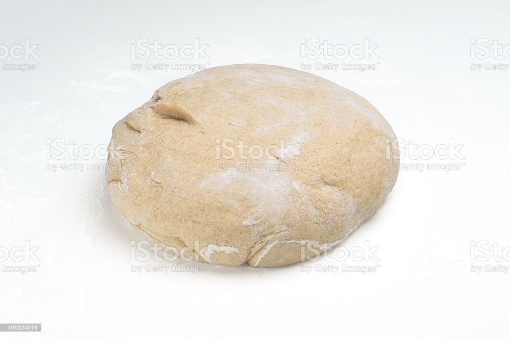 Bread or pizza dough stock photo