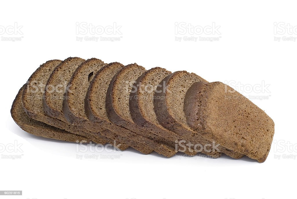 bread over white royalty-free stock photo