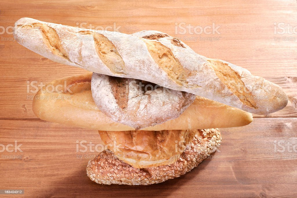 bread pile royalty-free stock photo