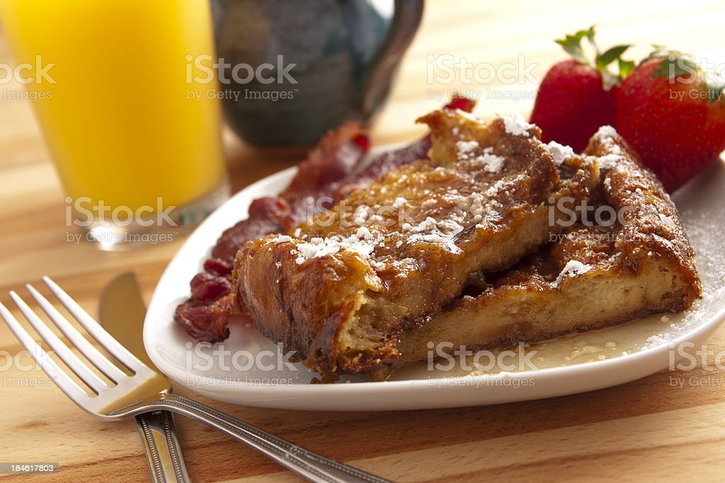 Bread pudding french toast stock photo