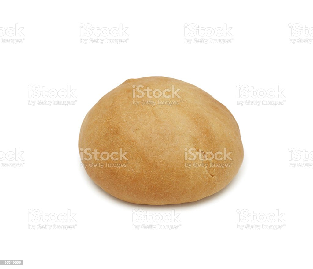 Bread roll, isolated royalty-free stock photo