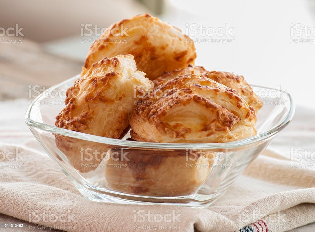 Bread Roll with cottage cheese filling stock photo