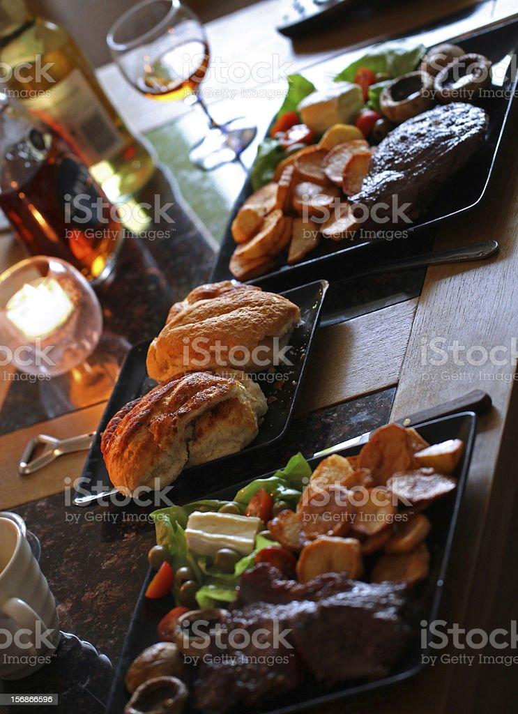 Bread Rolls - bar / restaurant menu, lunch, dinner, meal stock photo