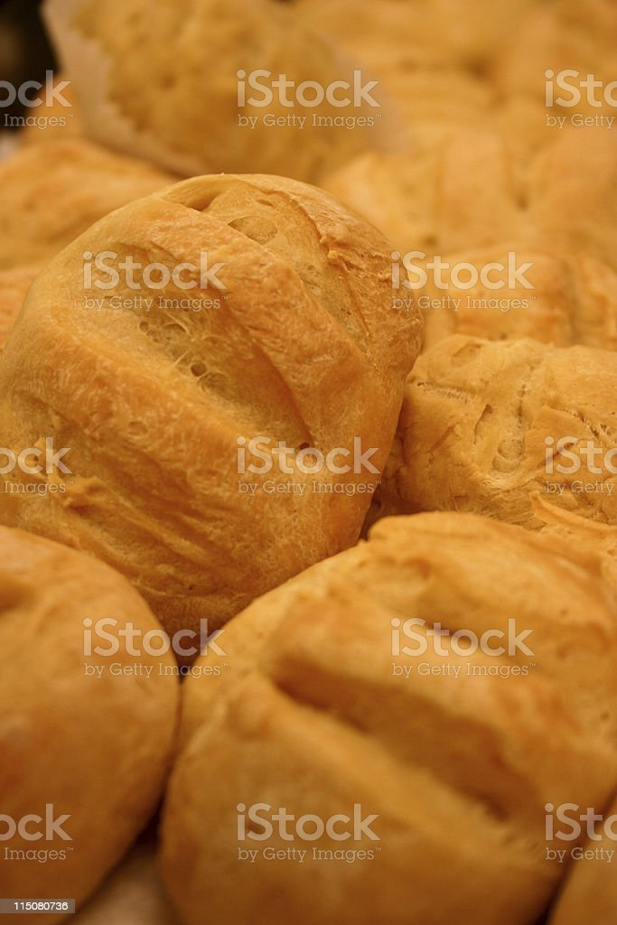 Bread rolls (freshly baked) stock photo