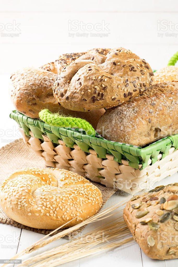 Bollos de pan foto de stock libre de derechos