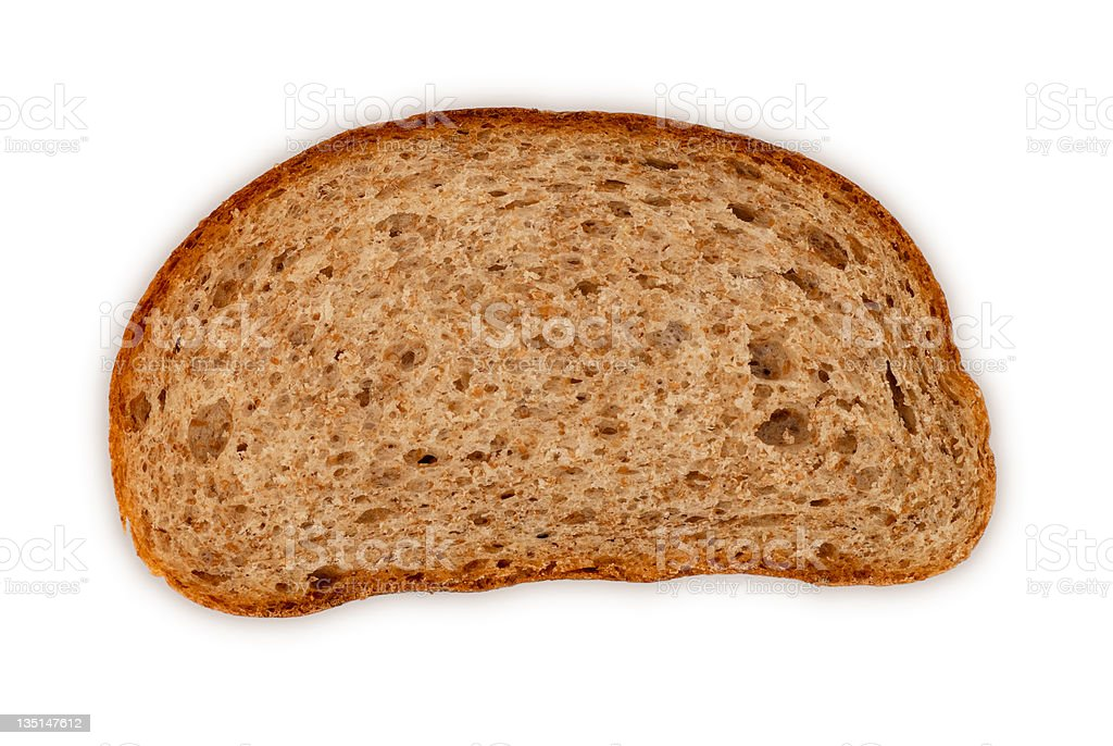 Bread slice royalty-free stock photo