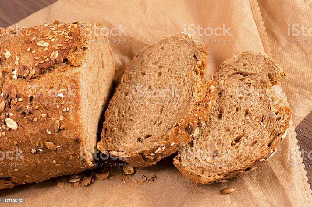 Bread slices royalty-free stock photo