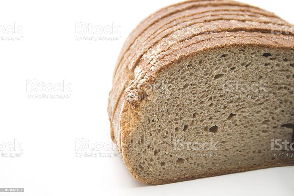 Bread slivered stock photo