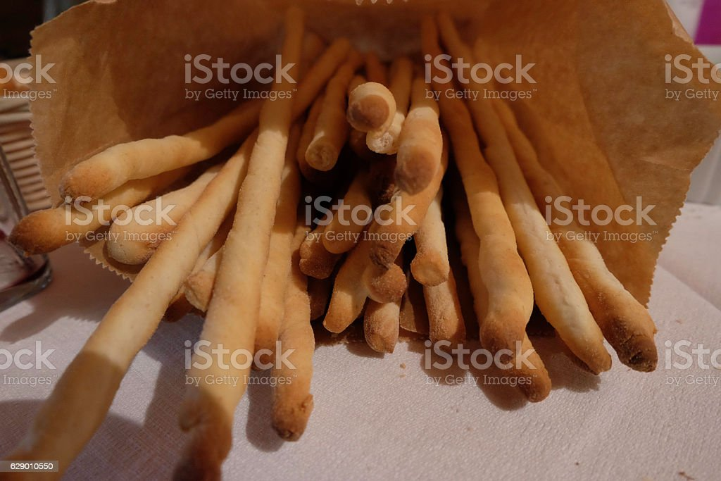 bread sticks on the table royalty-free stock photo