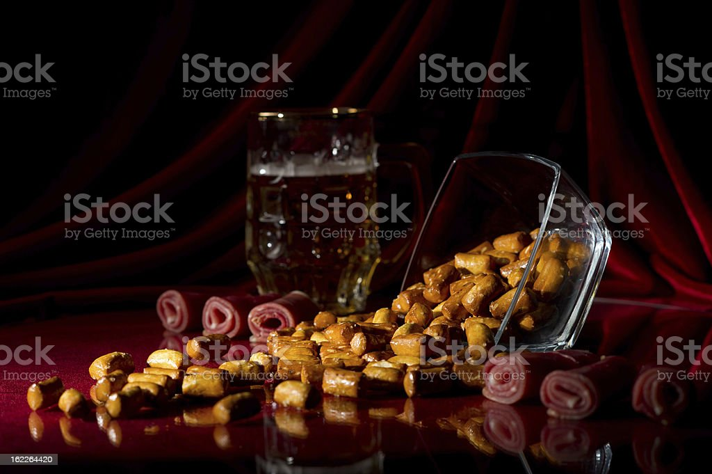 bread sticks with bacon royalty-free stock photo