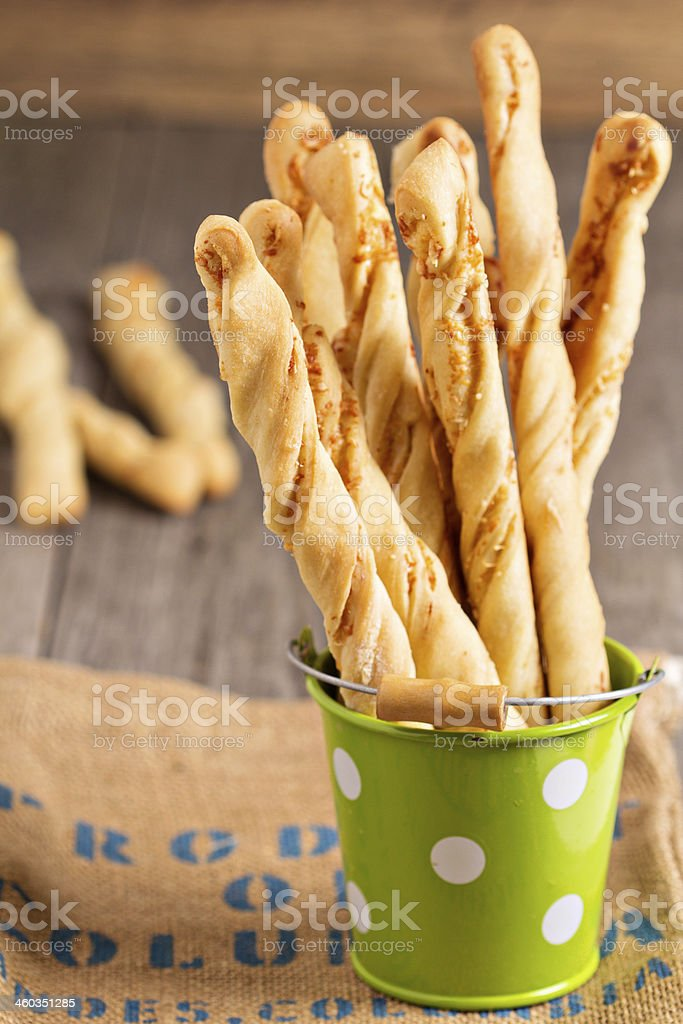 Bread sticks with cheese royalty-free stock photo