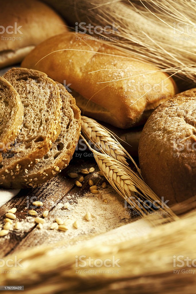 Bread still life royalty-free stock photo