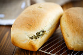bread stuffed with cheese and dill