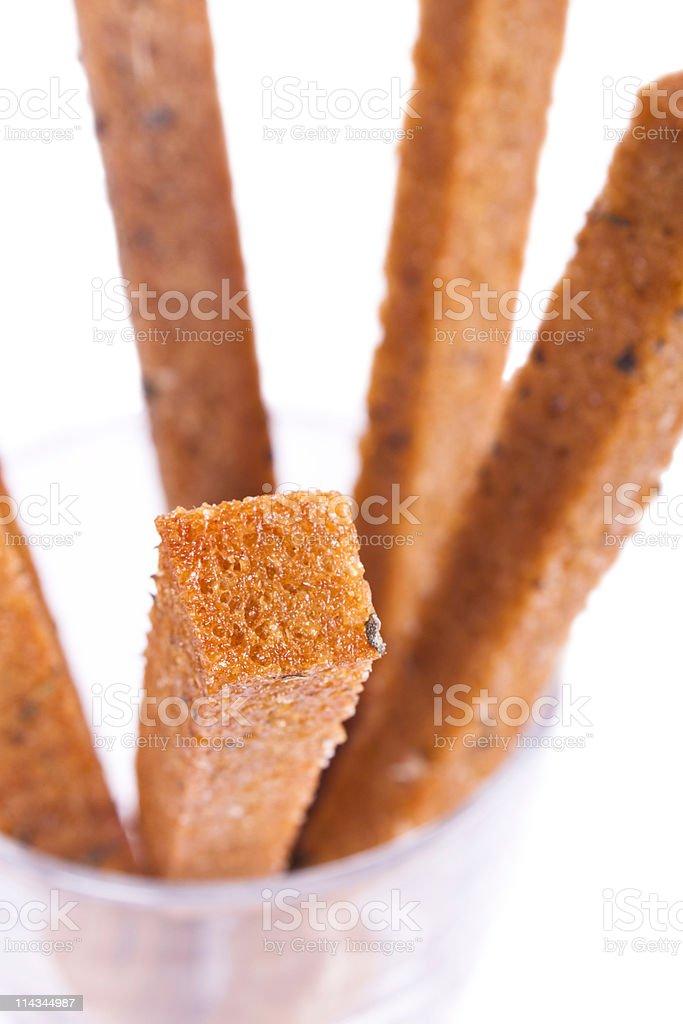 Bread, toast, fried stock photo