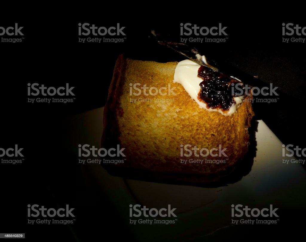 Bread toasted stock photo