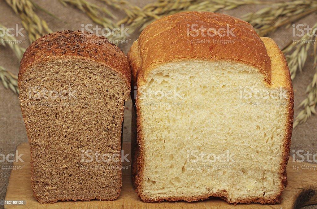 Bread Two Ways royalty-free stock photo
