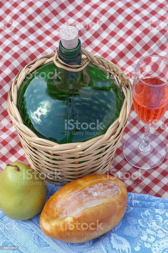 Bread, Wine & Fruit #1 royalty-free stock photo