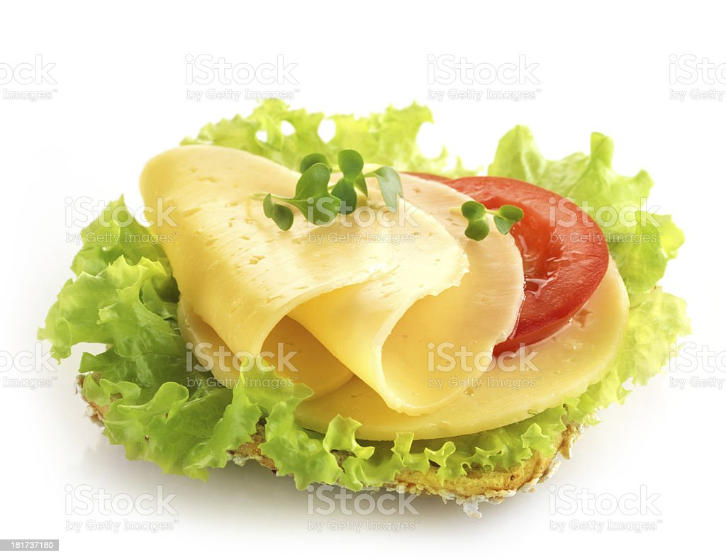 bread with cheese and vegetables royalty-free stock photo