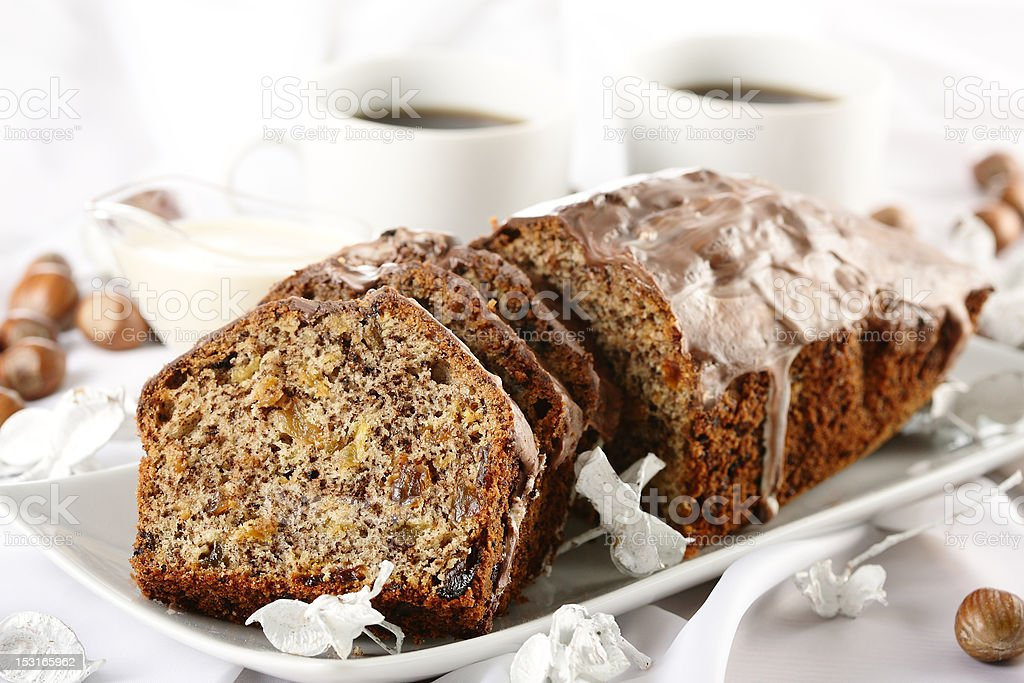 bread with coffee royalty-free stock photo