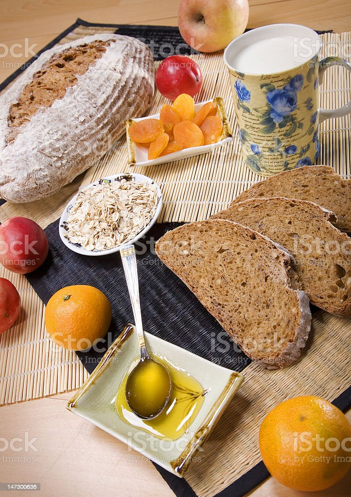 Bread with fruits royalty-free stock photo