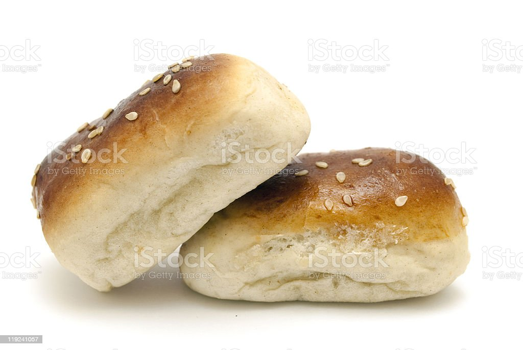 bread with poppy seeds stock photo