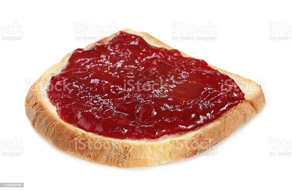 Bread with strawberry jam royalty-free stock photo