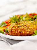 Breaded and Baked Pork Cutlets with a side Salad