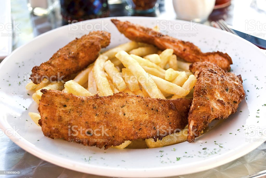 breaded chicken breast royalty-free stock photo