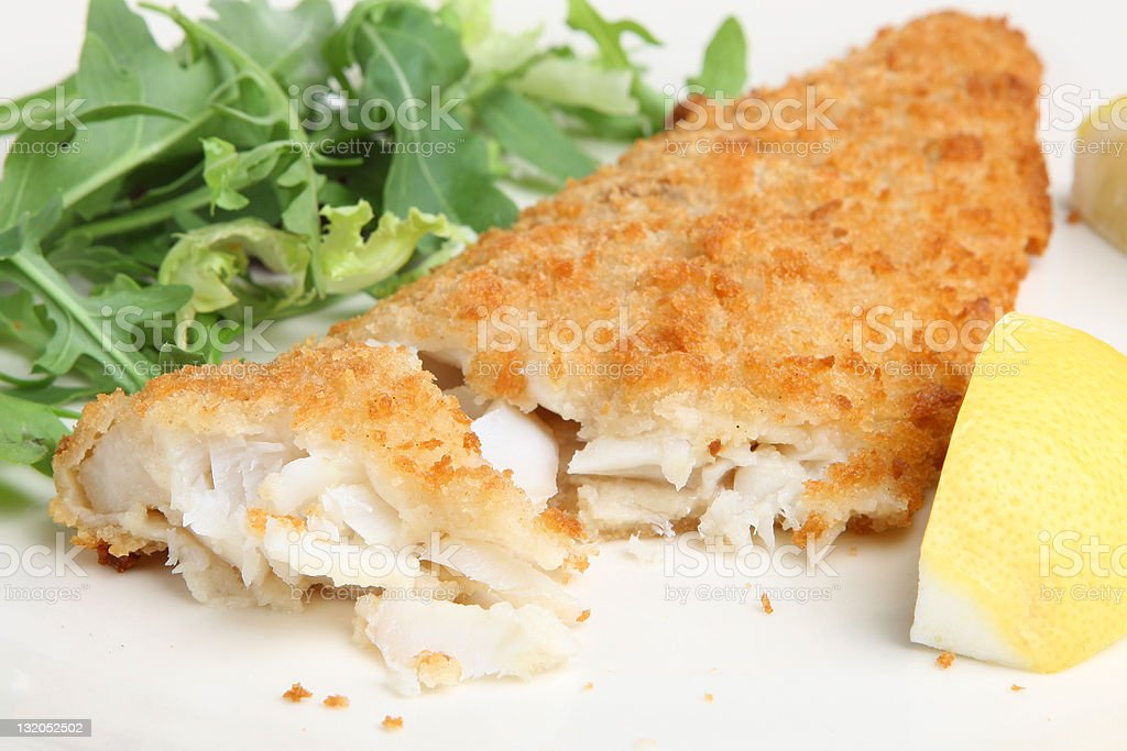Breaded Fillet of Cod royalty-free stock photo
