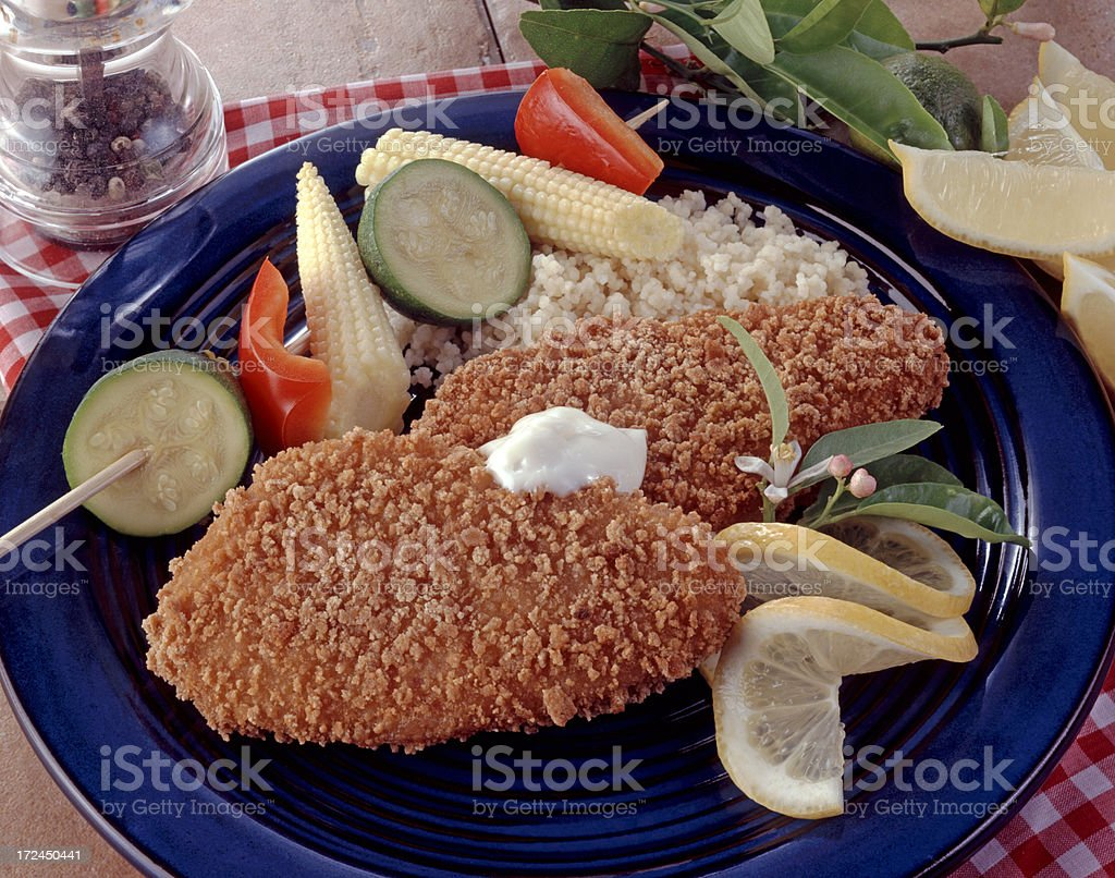 Breaded Fish Fillets royalty-free stock photo