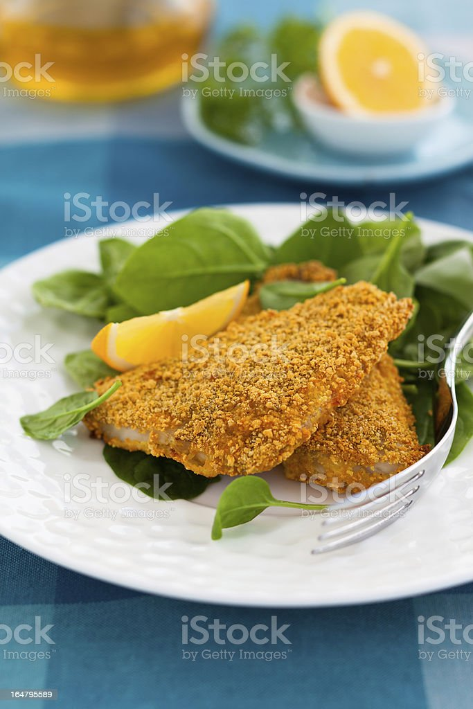 breaded fish royalty-free stock photo