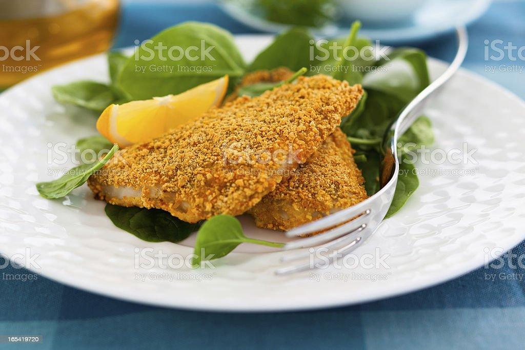 breaded fish royalty-free stock photo