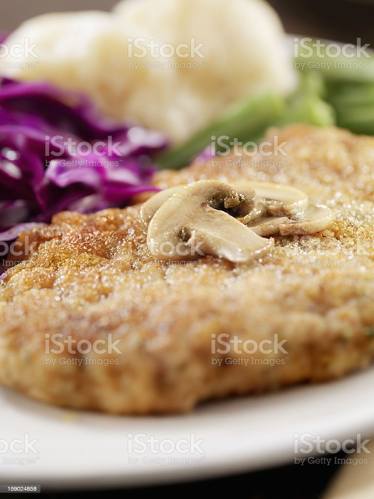 Breaded Pork Cutlet royalty-free stock photo